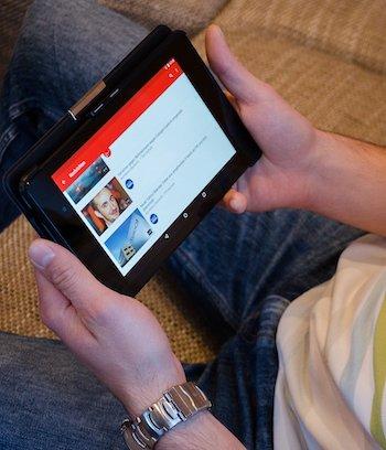 Youtube op tabblet